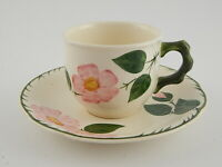 VINTAGE CERAMICA VILLEROY&BOCH WILD ROSE SET TE' TAZZA E PIATTINO WEST GERMANY