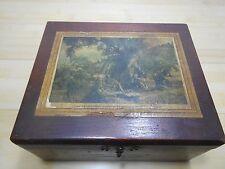Corona Size Jessica Tub Co. Castle Mirimar, Alaro Wood Treasure Trinket BOX.
