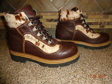 Womens Martino Sz 6 EUR 36 Brown Leather Fur/Hide Accent Winter Boots Canada