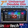 "7"" Universal Double DIN Car DVD Player Radio Stereo GPS Navigation Bluetooth USB"