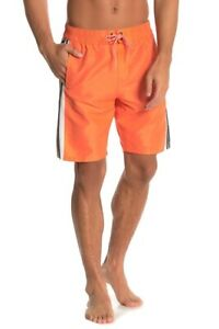 Adidas Men's Hoopshot Volley Swim Shorts, Orange