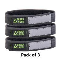 GREEN GURU Black Reflective strip Narrow Ankle Strap