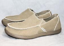 CROCS 10128 Santa Cruz Canvas Loafer Slip On Men 14 Khaki Beige Tan