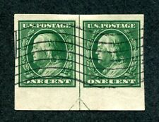 [x0670] - US Sc# 383 Pair with Guideline in Center. Used