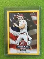 BAKER MAYFIELD ROOKIE CARD RC OKLAHOMA SOONERS BROWNS 2018 Leaf Draft GOLD #AA02