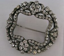 "Victorian or Georgian Diamante Paste Brooch Large Oval 2½"""