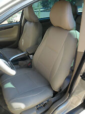 FITS 850 940 960 TAN LEATHERETTE and TAN SYNTHETIC SIDES Front CAR SEAT COVERS