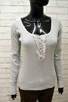 Maglia Donna GURU Taglia S Maglietta Blusa Shirt Woman Manica Lunga Cotone