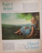 Lot 3 Vintage Diamonds Print Ads Art by Jean Spencer Colleen Browning Dar Austin