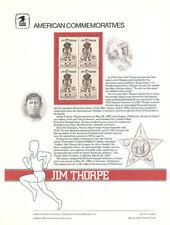 #219 20c Jim Thorpe #2089 USPS Commemorative Stamp Panel