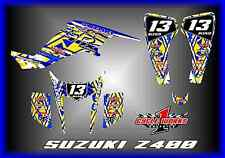 SUZUKI LTZ 400 Z400 KAWASAKI KFX400 KFX QUADRACER CUSTOM GRAPHICS KIT TRANCe 2