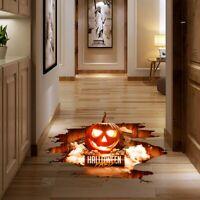 Halloween 3D Fußboden Wasserdicht Unheimlich Aufkleber Kürbis Sticker Party Deko
