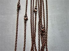 """5x 21"""" Antique Copper  Chain Necklaces with lobster clasp jewellery making"""