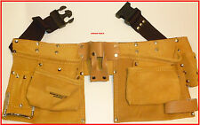 TRADESMANS CARPENTERS LEATHER TOOL & NAIL BAG BELT - BRAND NEW.