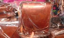 Borsello Piatto in CUOIO Tracolla verticale borsa Artigianale bag man 25x30 L6CM