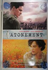 """Atonement - 27""""x40"""" 2 Sided Promo Movie Poster - James McAvoy, Keira Knightley"""