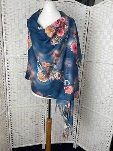 Floral soft scarf shawl gold blue purple green Monet Style BNWT 4 choices