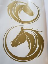 2x  HORSE HEAD STICKER  DECAL UTE 4WD HORSE FLOAT TRUCK