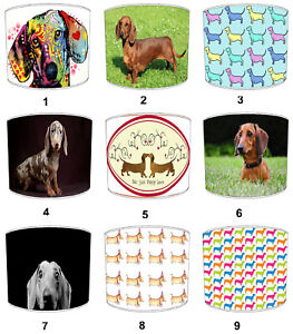 Sausage Dog Puppy Dachshund Lampshades Ideal To Match Cushions & Covers