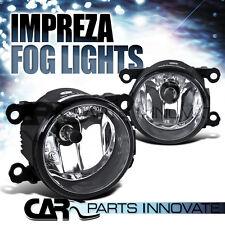For 12-14 Subaru Impreza Chrome Clear Fog Lights Driving Bumper Lamp+Switch Pair