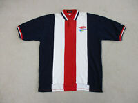 VINTAGE Nascar Polo Shirt Adult 2XL XXL Red Blue Racecar Racing Dupont Mens 90s*