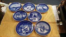 7 Royal Copenhagen Plates 1968-1973 And 1977