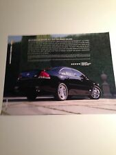 "2008 Chevy Impala 2-page Dealer ""Promotional"" Flyer"