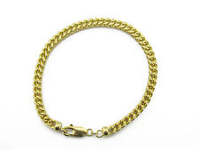 10KT Yellow Gold Diamond Cut Franco Bracelet 5.25mm 17.16 Grams and 9.5 Inches