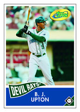 1 - BJ Upton 2006 ETopps Topps Card # 72 in hand - Tampa Bay Rays
