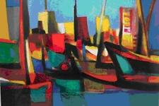 "Marcel Mouly    ""Boutres Au Dubai""      MAKE  OFFER   #DDSBA"