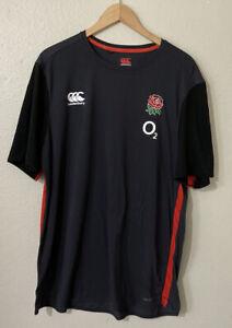 Canterbury England Rugby Jersey Training Shirt VapoDri+ Mens 2017/18