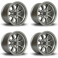 4x Rota RKR Steel Grey Alloy Wheels 15x8"