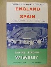 1960 International Match- ENGLAND v SPAIN, 26 Oct (Org* )