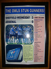 Sheffield Wednesday 3 Arsenal 0 - 2015 Capital One Cup - framed print