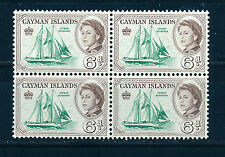 CAYMAN ISLANDS 1962 DEFINITIVES SG172 6d BLOCK OF 4 MNH