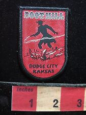 BOOT HILL DODGE CITY Kansas Woven Patch ~ Wild West Tourist Attraction Guns C719