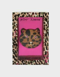 Betsey Johnson Compact Mirror Leopard Cat LIMITED EDITION