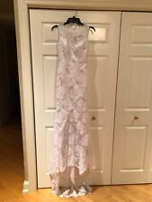 Brand New White Halter Top Trumpet/Mermaid Chapel Train Wedding Dress US Size 4