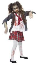 Smiffys Kids Halloween Zombie School Girl Fancy Dress Party Costume 7-9 Years Zombies 43025M
