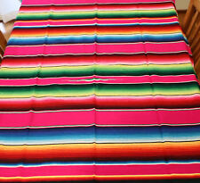 Mexican Sarape Pink, Blanket, Rug, Picnic, Throw, Tablecloth, Hot Rod, Yoga mat