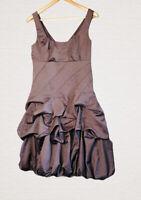 Monsoon Bubble Hem Dress Size 10 Sleeveless V Back Smart Event Holiday Party