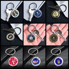 Naruto Hokage Land of Fire Wind Square Keychain Key Ring Pendant Chain Gift