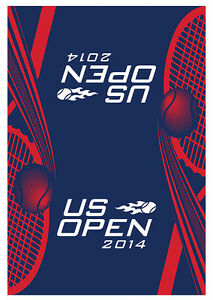 New US Open Men's Players Authentic on court Towel Navy Red White 2014