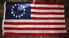 3x5 Embroidered Betsy Ross Usa 200D Sewn Nylon Flag Banner ( Made in Usa ) Clips