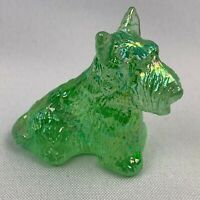 Boyd Art Glass Duke the Scottie Dog - Aloe Carnival