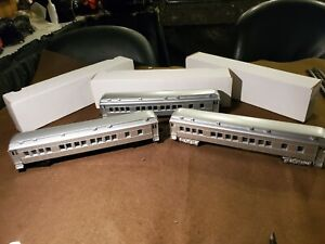 Lionel Early Post War O Gauge Set Of Bakelite Madison Restored Pass Cars C7 Cond
