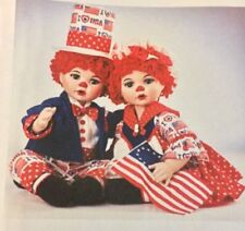 "MARIE OSMOND 2004 ""HUGGS & KISSY RED, WHITE & I LOVE BLUE"" SET OF 2 DOLLS"