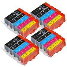 20 PATRONEN kompatibel PGI 521BK CLI 520BK 521C 521 M 521Y +Chip TINTE CANON NEU