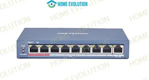 Hikvision Switch Poe 8 Porte +1 Uplink 10/100m Lungo raggio DS-3E0109P-E (C)