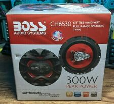 Boss CHAOS EXXTREME ( CH6530 ) 3-Way 6.5in 300W Car Speaker - Red/Black PERFECT
